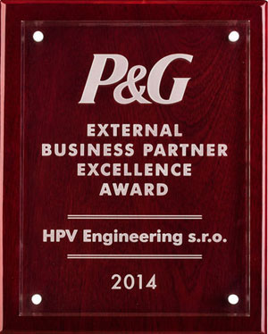 P&G Supplier of Excellence prize 2016